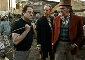 David Milch, show runner,exercising his masculine management on the Deadwood set
